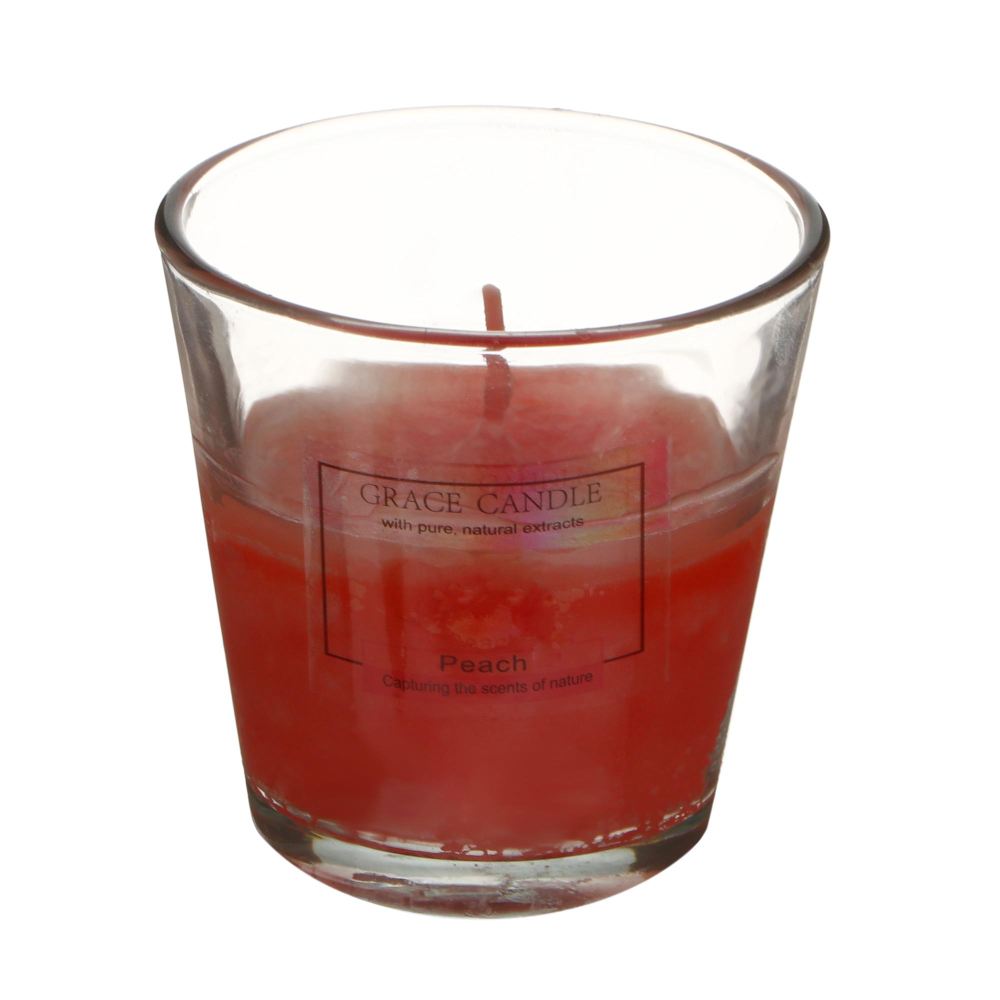 Свеча ароматизированная Sunford 6.5x6.5см персик