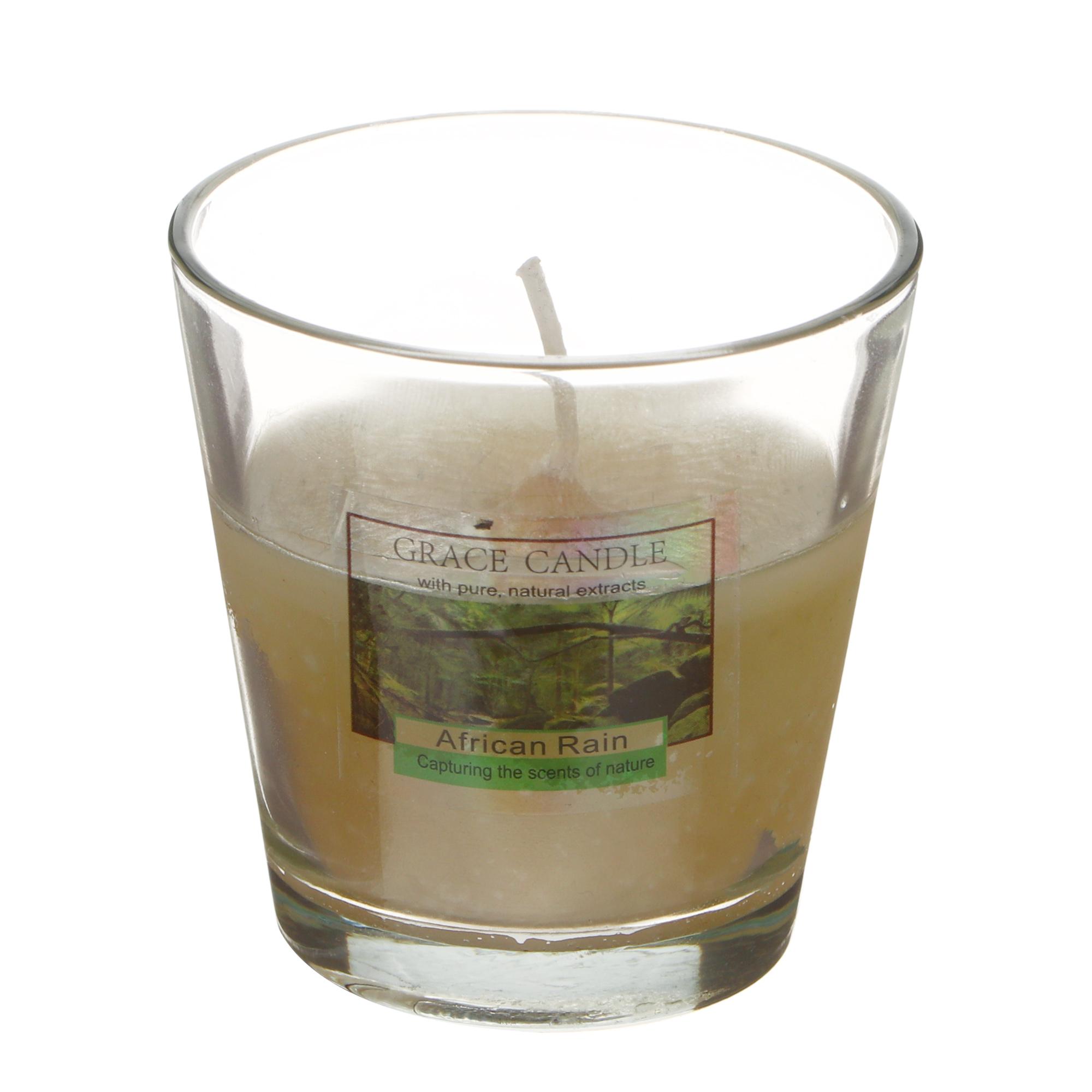 Свеча ароматизированная Sunford 6.5x6.5см дождь