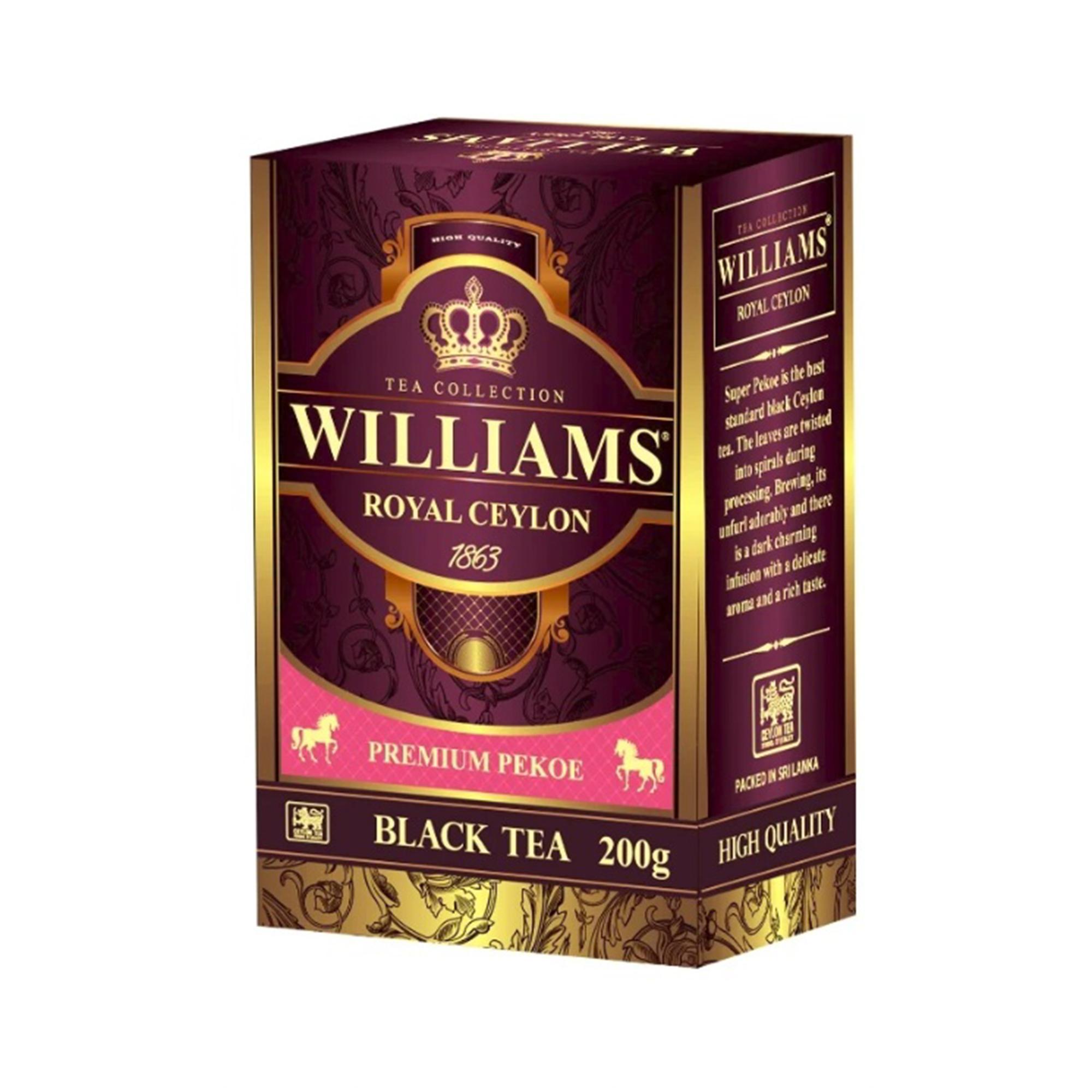 Чай черный Williams Royal Ceylon листовой 200 г kate williams becoming queen