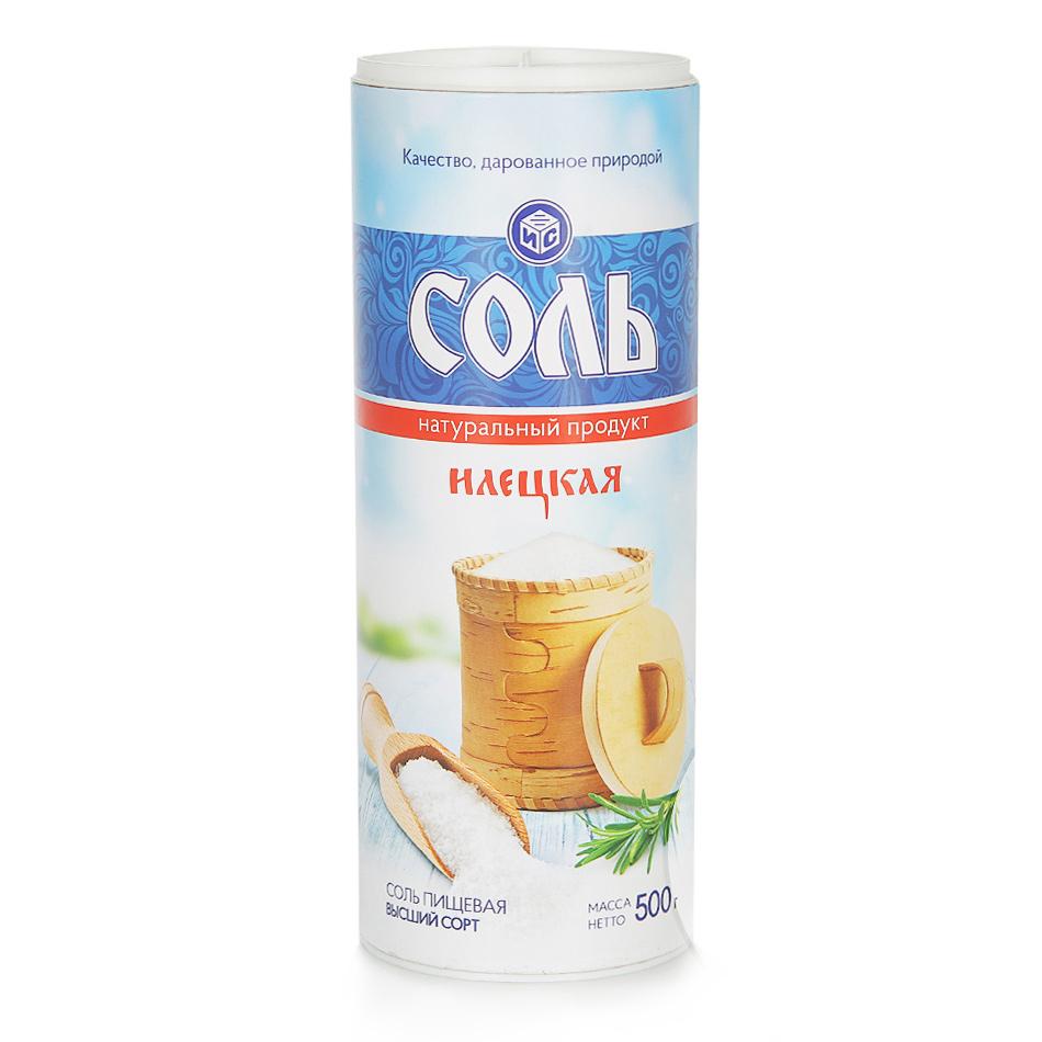 Соль поваренная Илецкая высший сорт помол №1 500 г фото