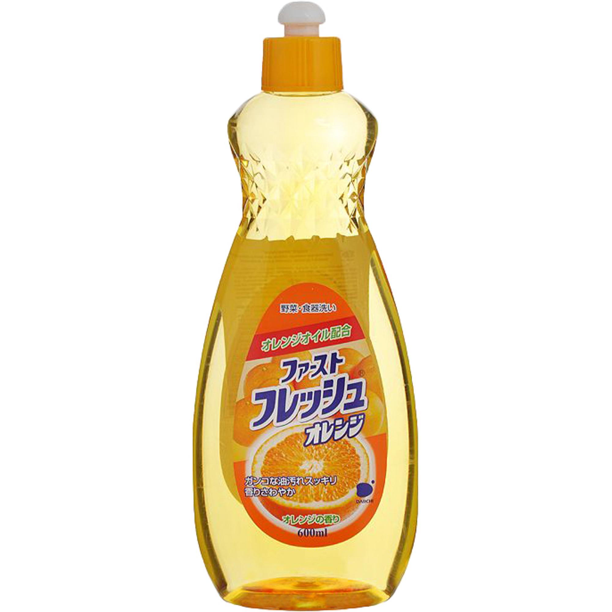 Жидкость для мытья посуды Daiichi Funs Свежий апельсин 600 мл