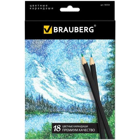 Карандаши brauberg . 18 цв.. Brauberg фото