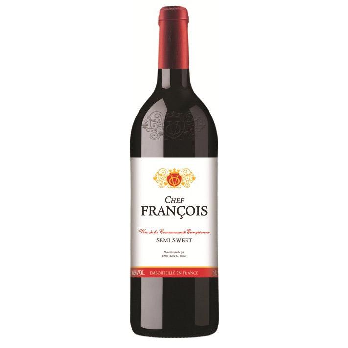 Вино красное полусладкое Chef Francois Rouge Semi Sweet 1 л