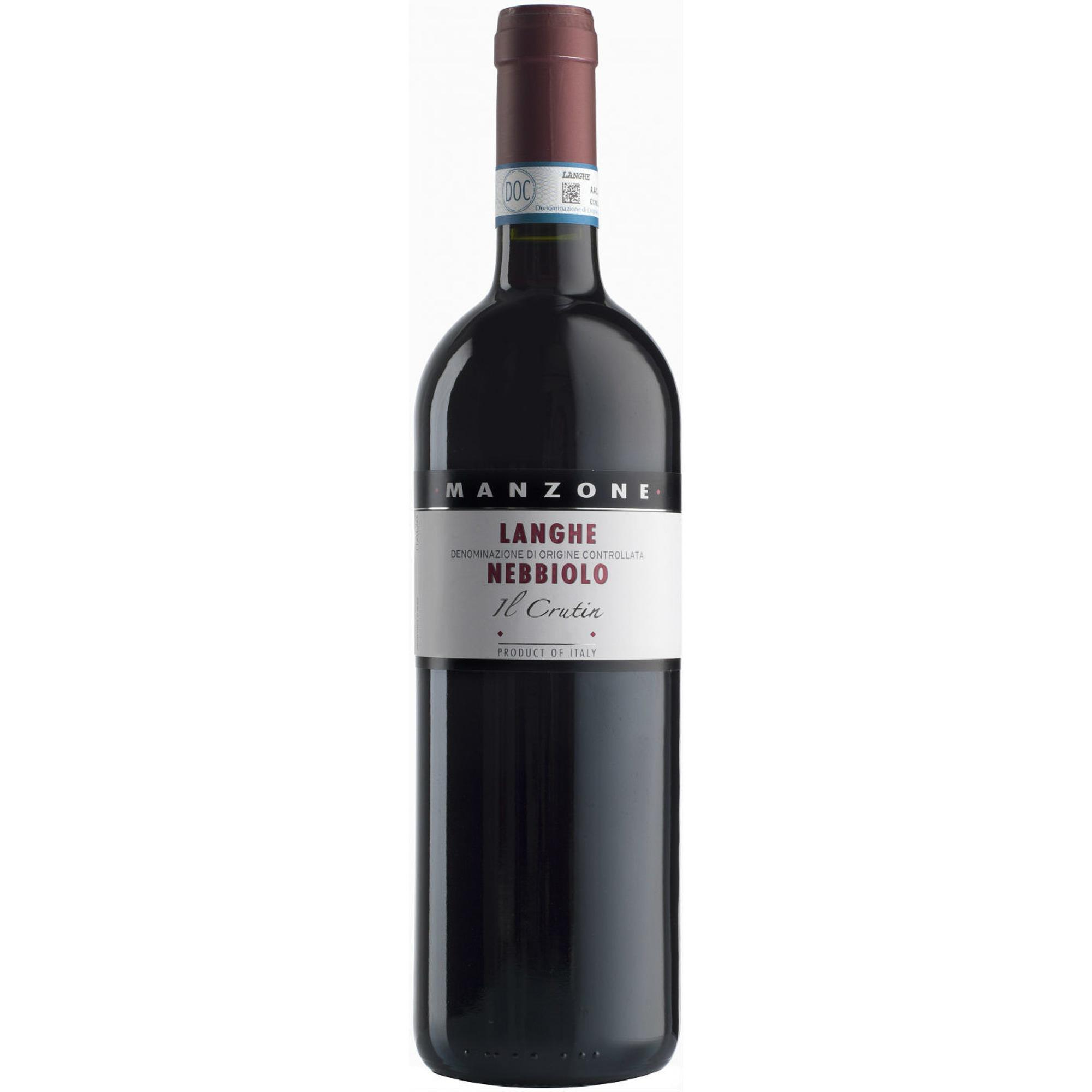 Купить Вино красное сухое Manzone Il Crutin Nebbiolo, Langhe DOC 0, 75 л, Италия, Красно-рубиновый