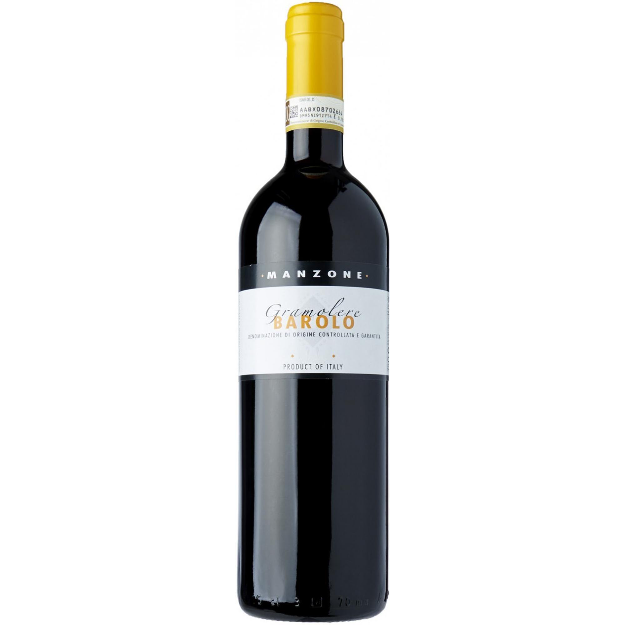 Купить Вино красное сухое Manzone Gramolere Barolo DOCG 0, 75 л, Италия, Красно-рубиновый