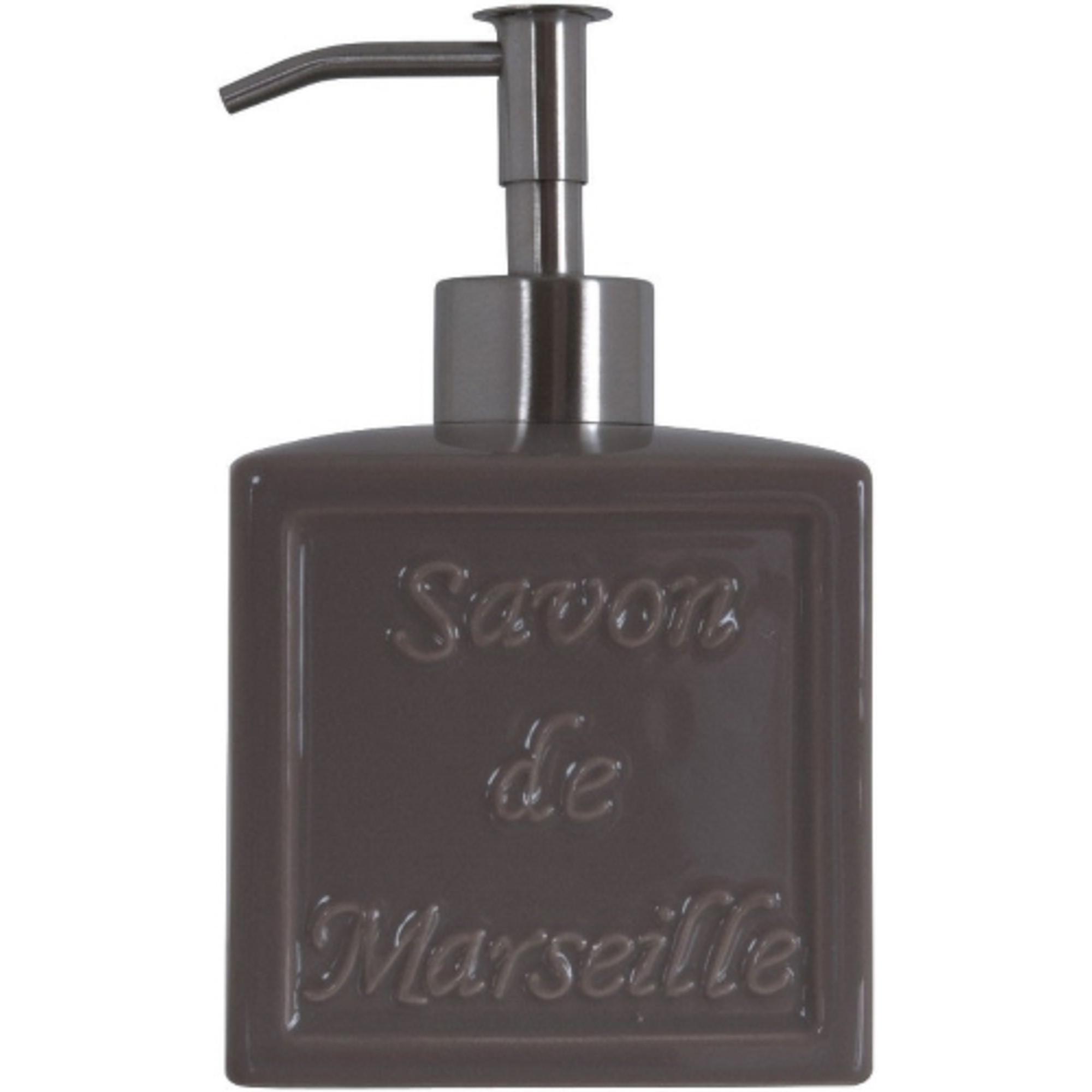 Дозатор для жидкого мыла Spirella Savon de Marseille Grey дозатор для жидкого мыла le bain gris