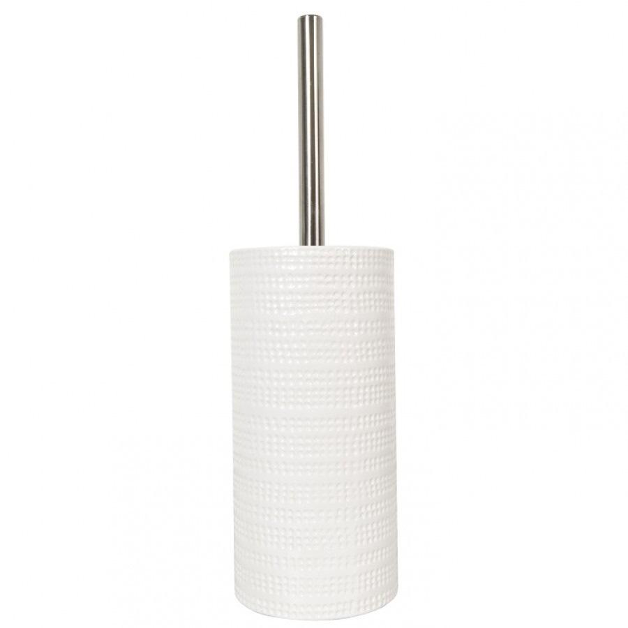 Ёрш с керамической белой подставкой Spirella Venise