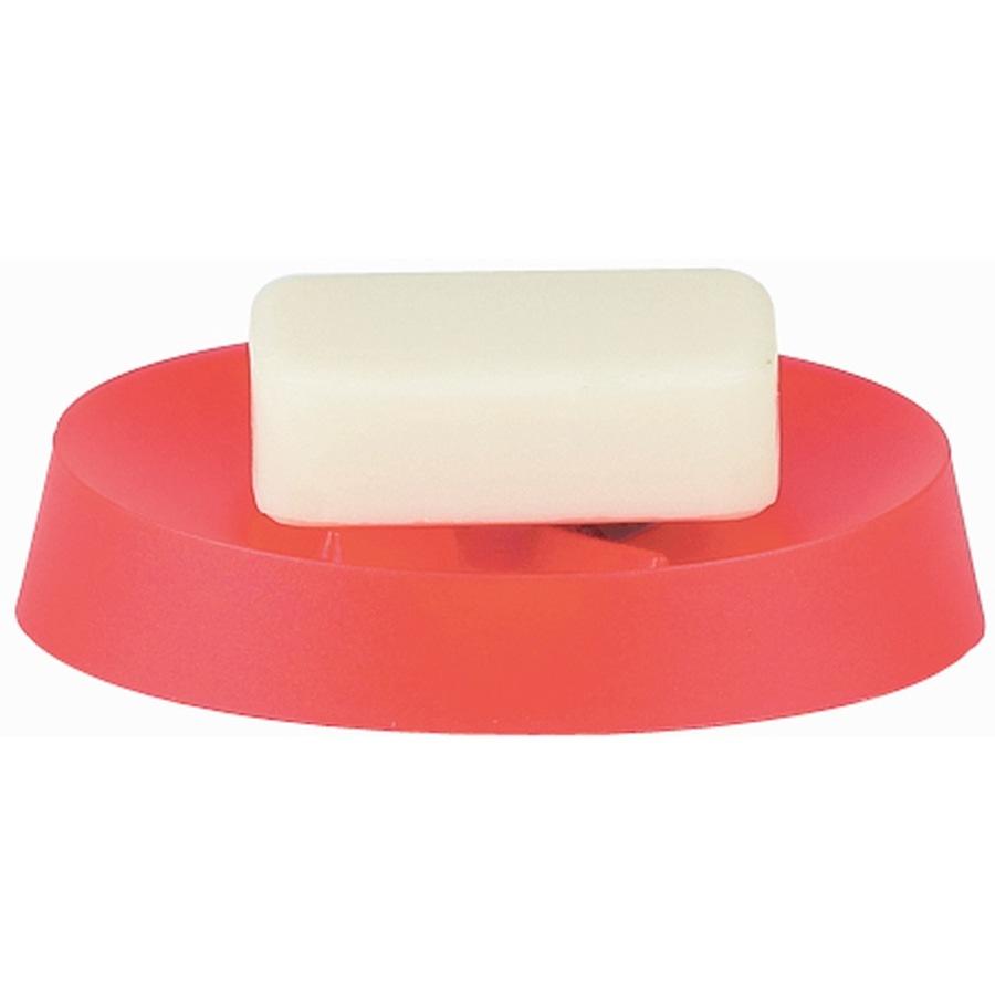 Мыльница пластиковая красная Spirella Move пластиковая головка для ключей kaba large key светло красная
