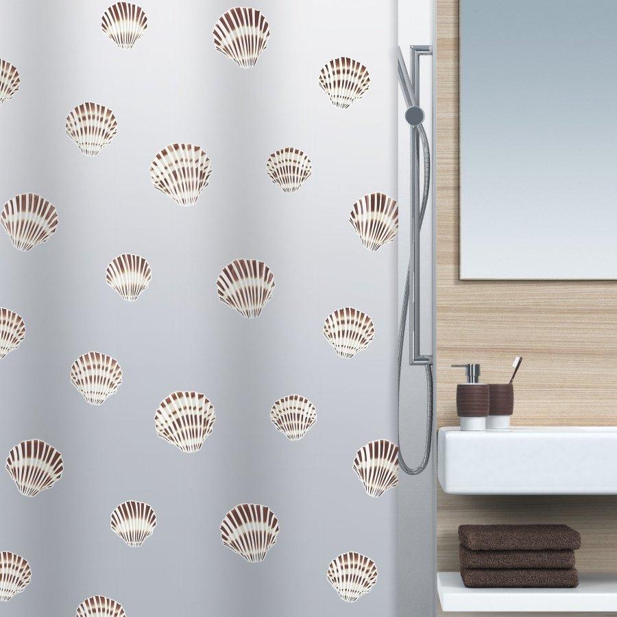 Шторка для ванной комнаты Spirella Shell 180х200 см шторка для ванной wasserkraft oder 180х200 см кольцав комплекте sc 30101