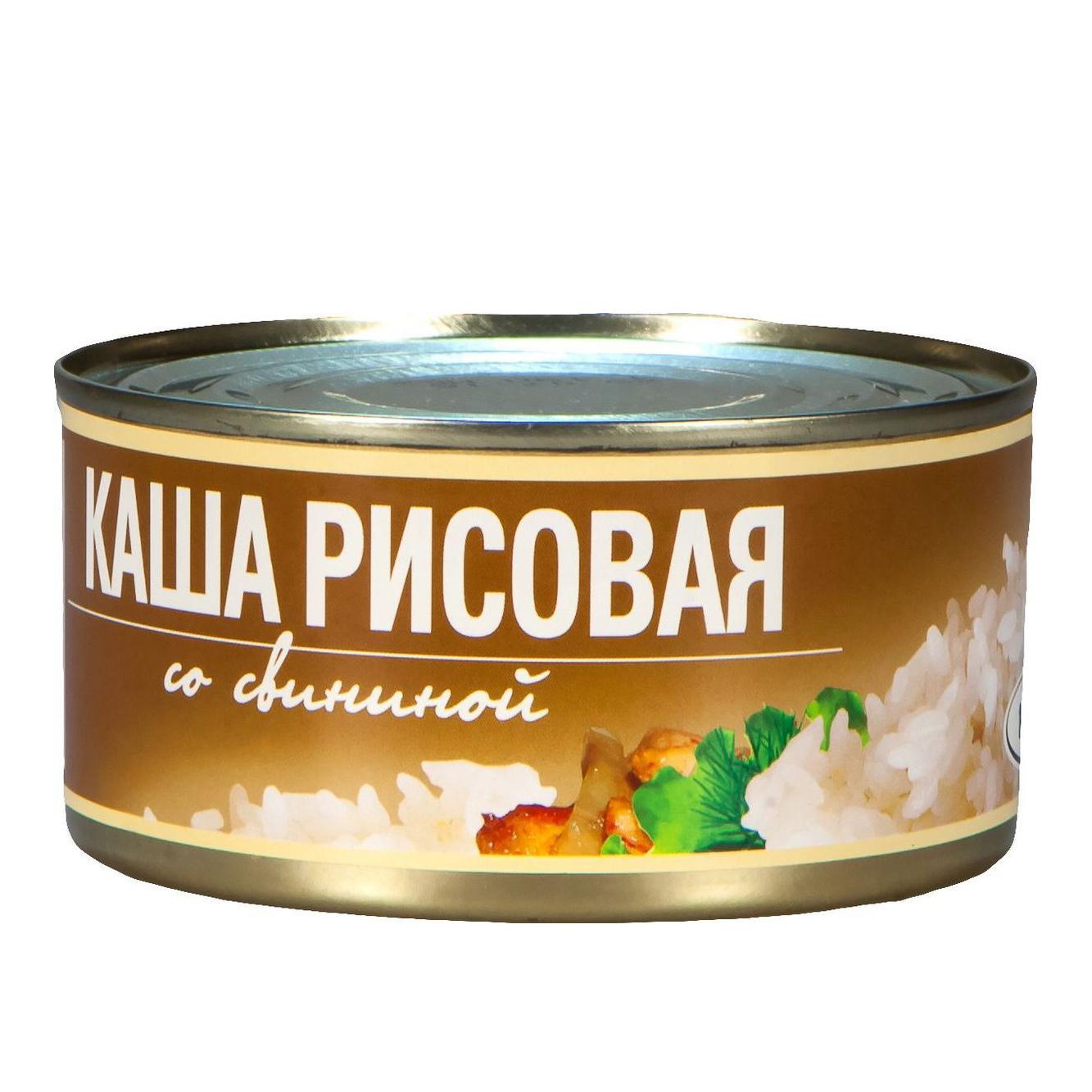 Фото - Каша рисовая Рузком со свининой 325 г плов рузком узбекский с говядиной 325 г