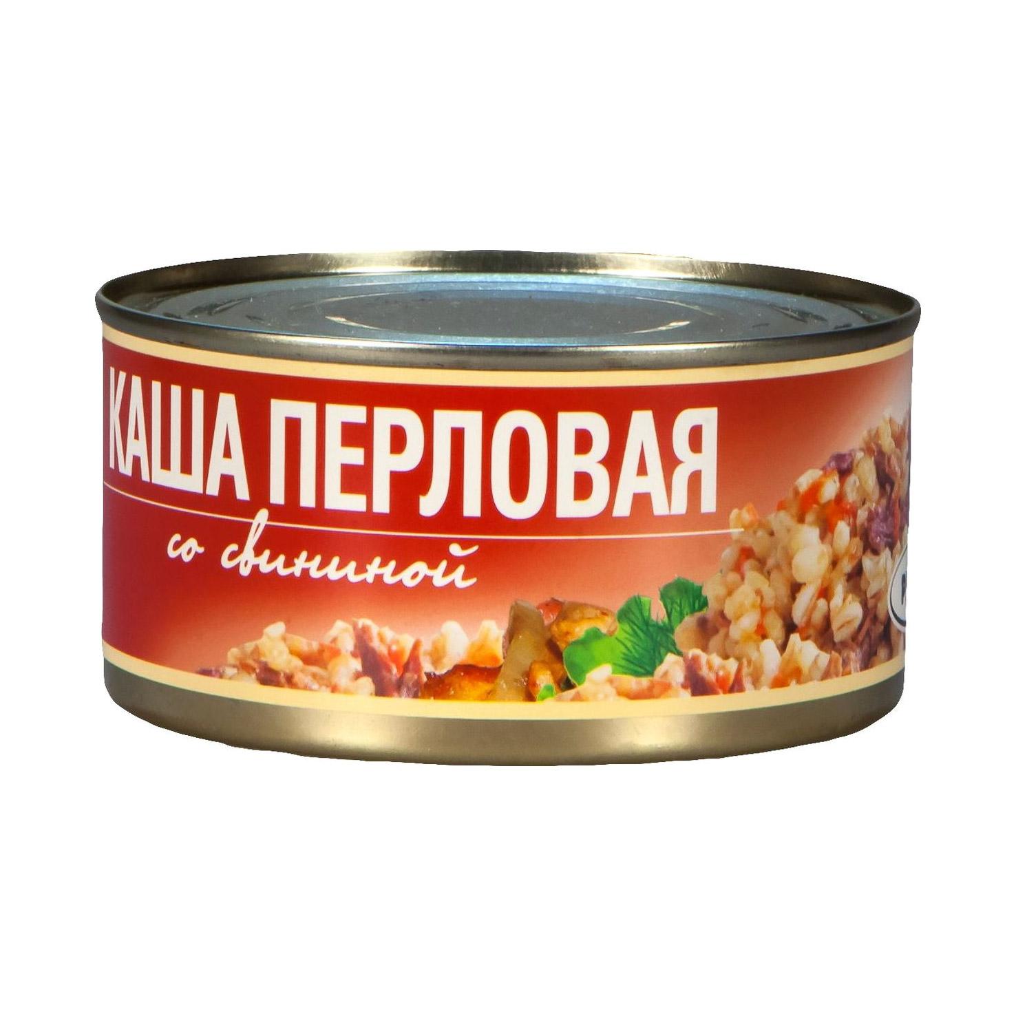 Фото - Каша перловая Рузком со свининой 325 г плов рузком узбекский с говядиной 325 г
