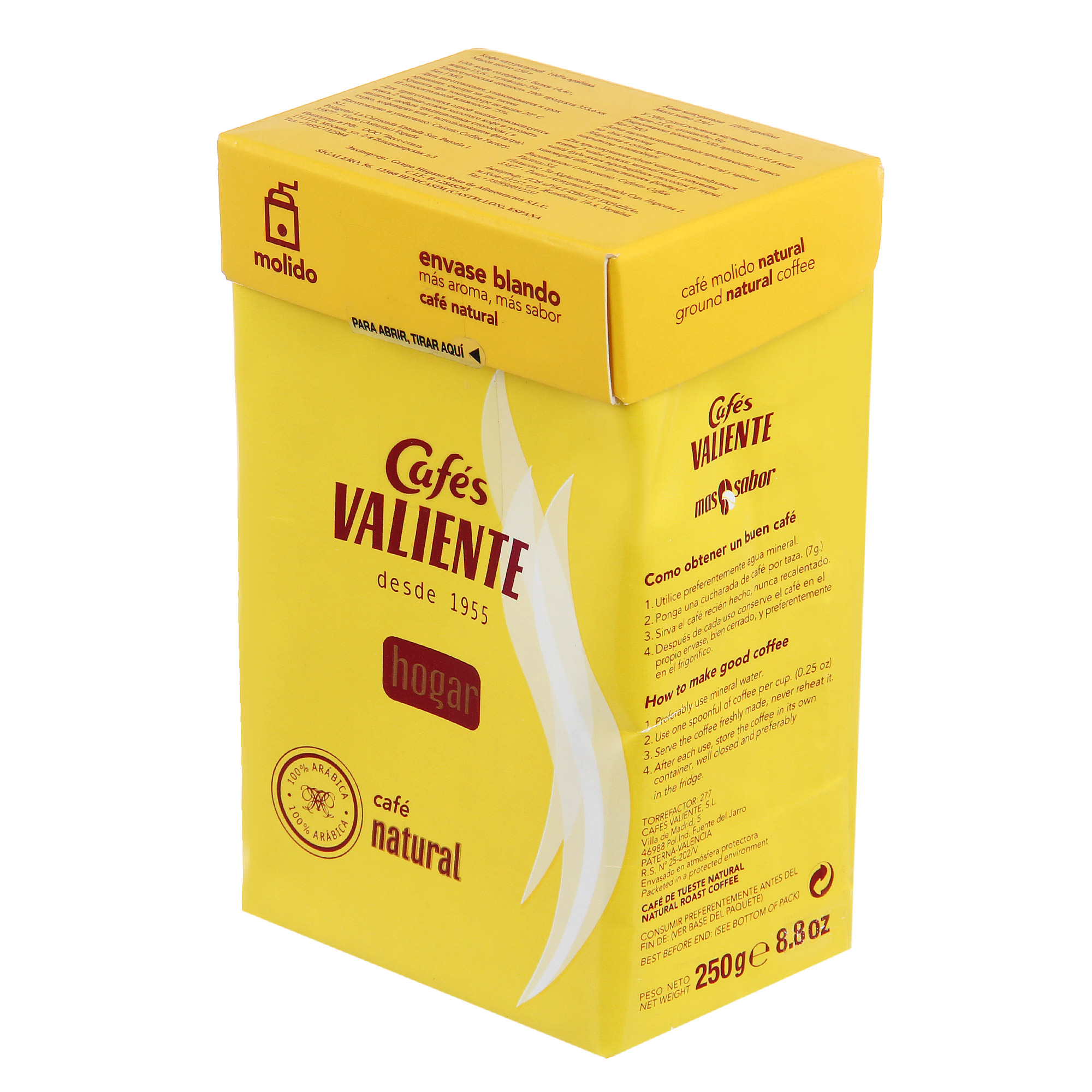 Кофе молотый Valiente Hogar 250 г