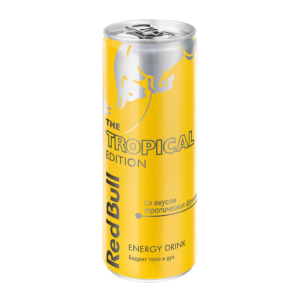 Напиток энергетический Red Bull Tropical Edition 250 мл фото