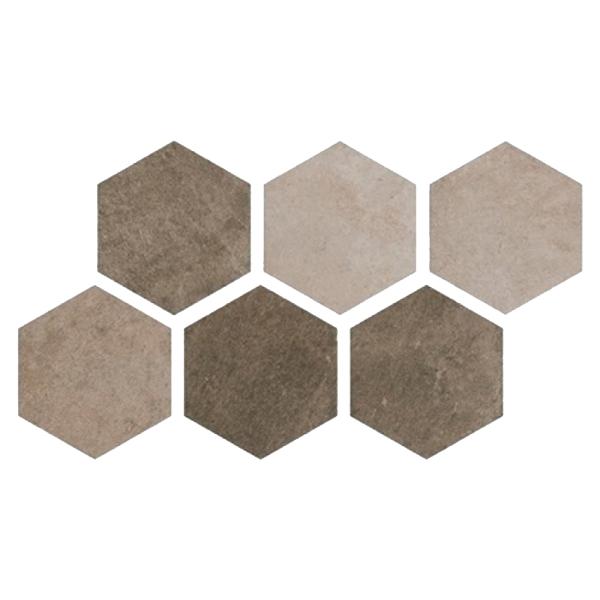 Фото - Плитка Argenta Ceramica Hexagon Multi Cold 25x22 см керамогранит vives ceramica world flysch lesnaya sp gris 17 5х20 см