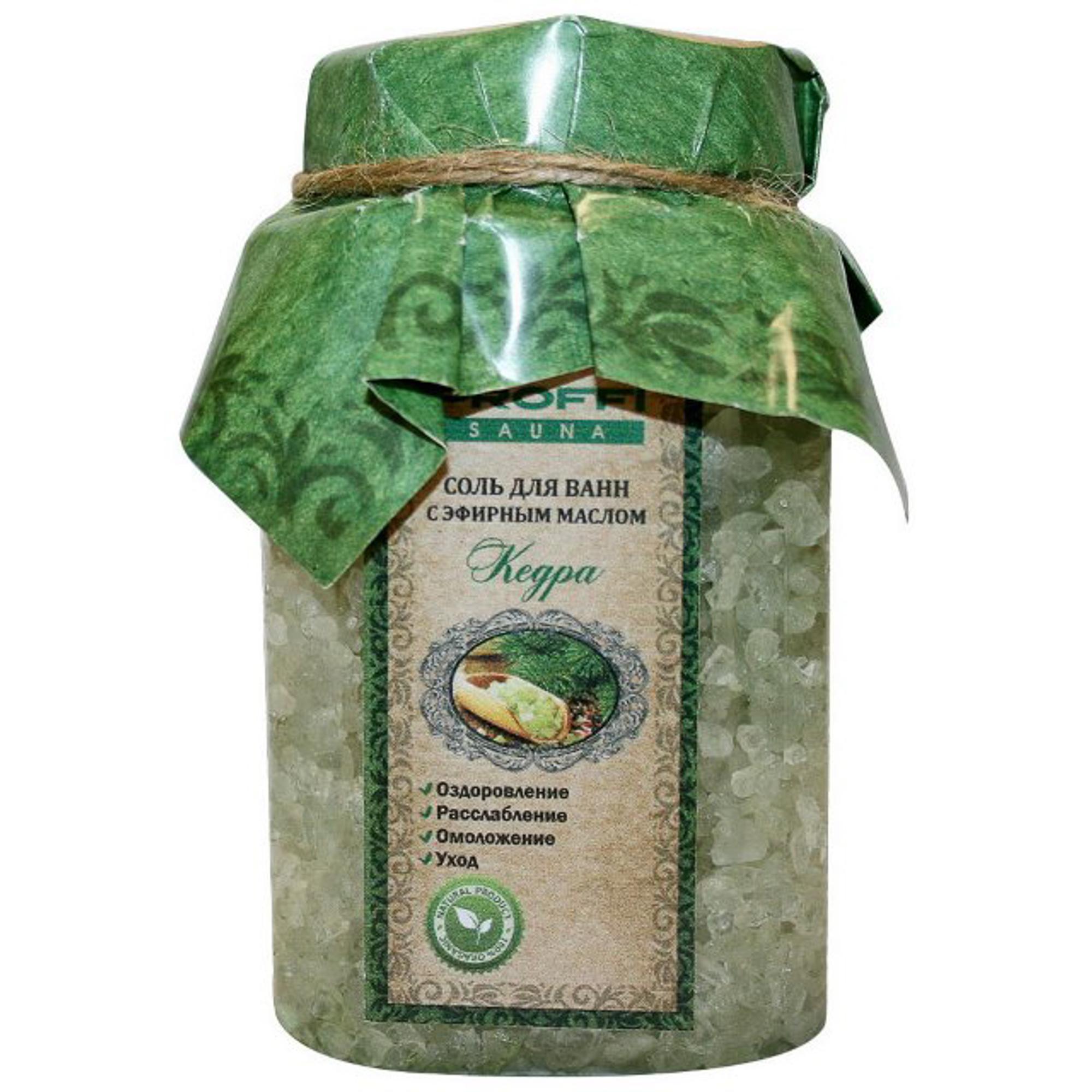 Фото - Соль для ванн Proffi Sauna с эфирным маслом кедра 450 мл добропаровъ соль для ванн с маслом ели 3005701 300 г