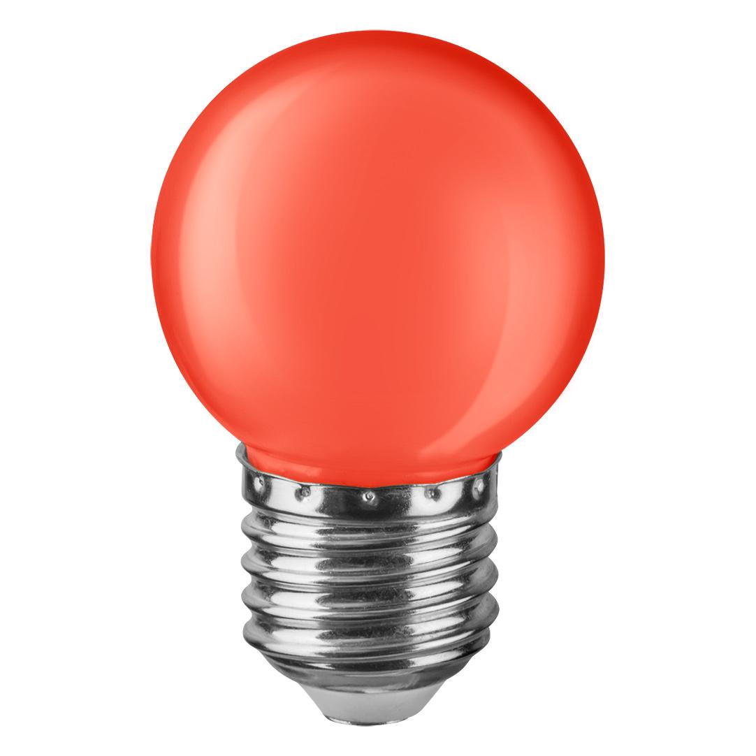 Купить Лампа светодиодная Navigator шарик цветной 1Вт цоколь E27 (красная), светодиодная лампа, Китай