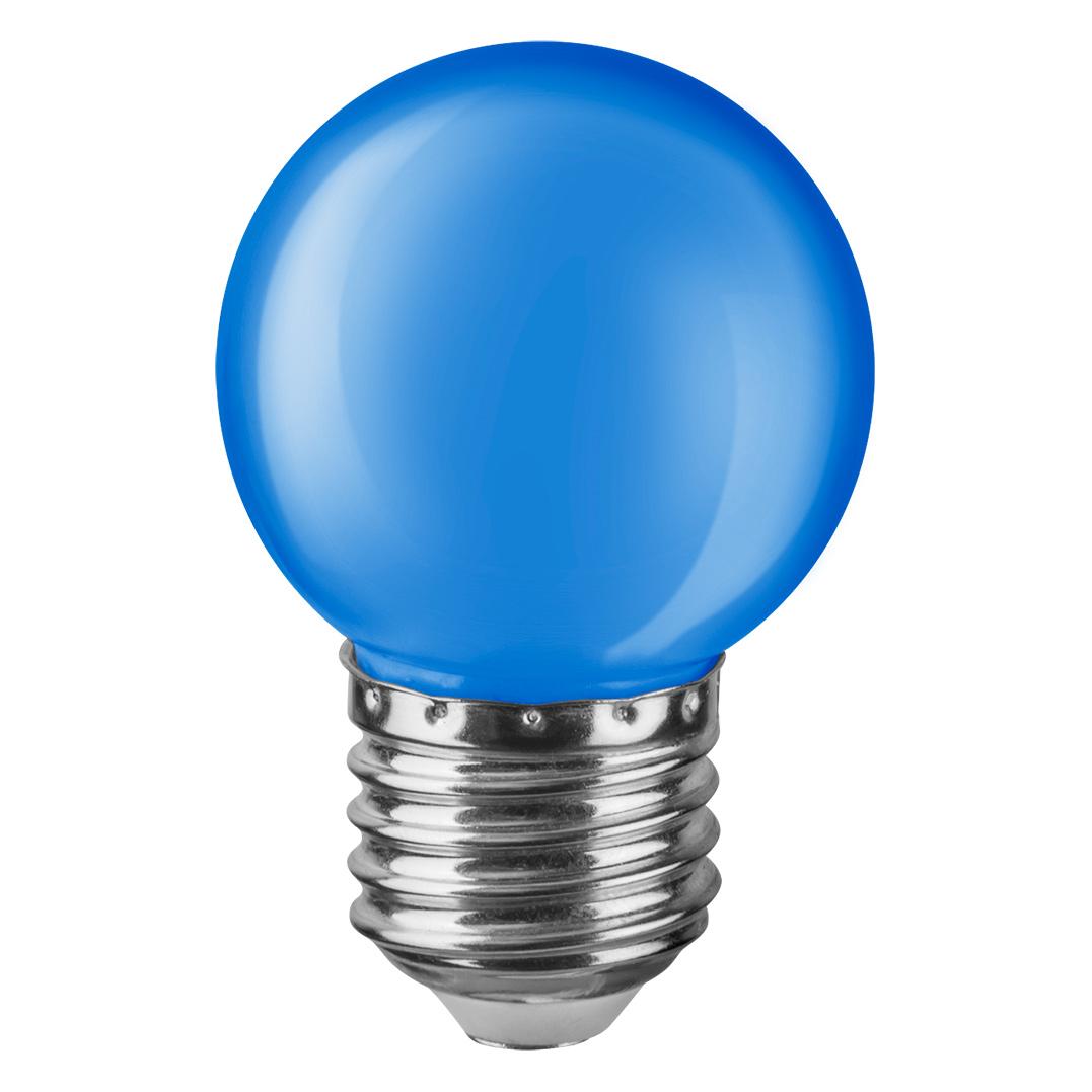 Купить Лампа светодиодная Navigator шарик цветной 1Вт цоколь E27 (синяя), светодиодная лампа, Китай