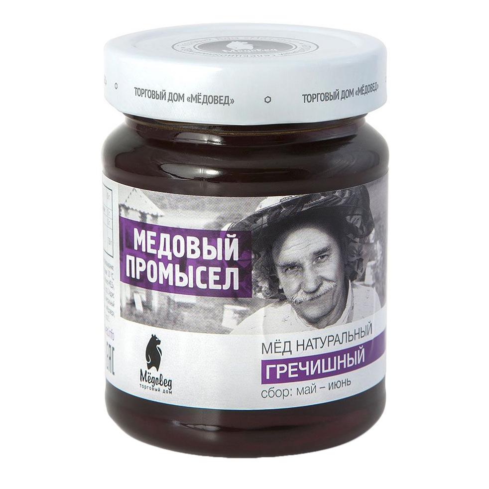 Мед гречишный Медовед Медовый промысел 350 г луговица мед натуральный гречишный 250 г