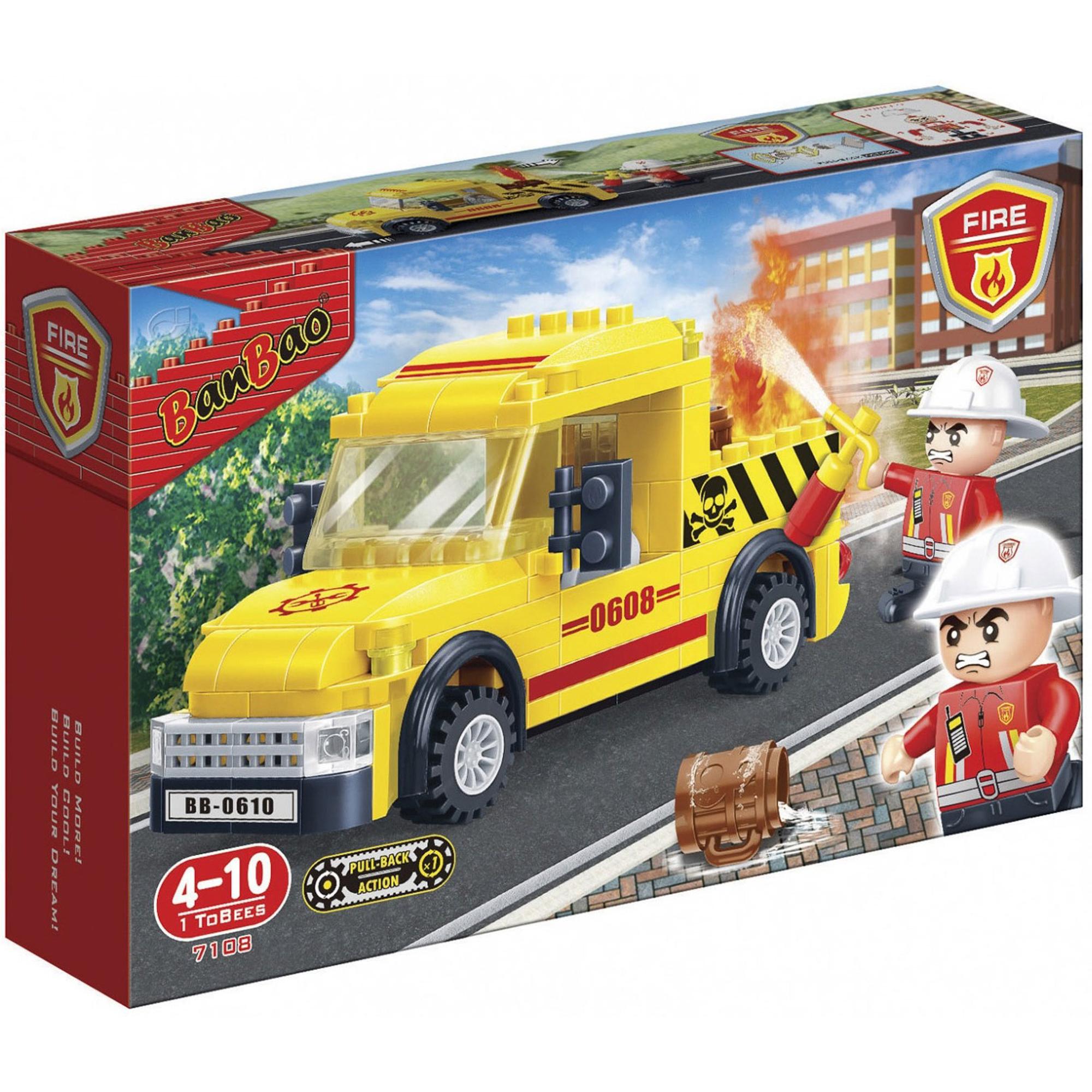 Купить Конструктор Banbao Пожарный пикап 7108, Китай, пластик, для мальчиков, Конструкторы, пазлы