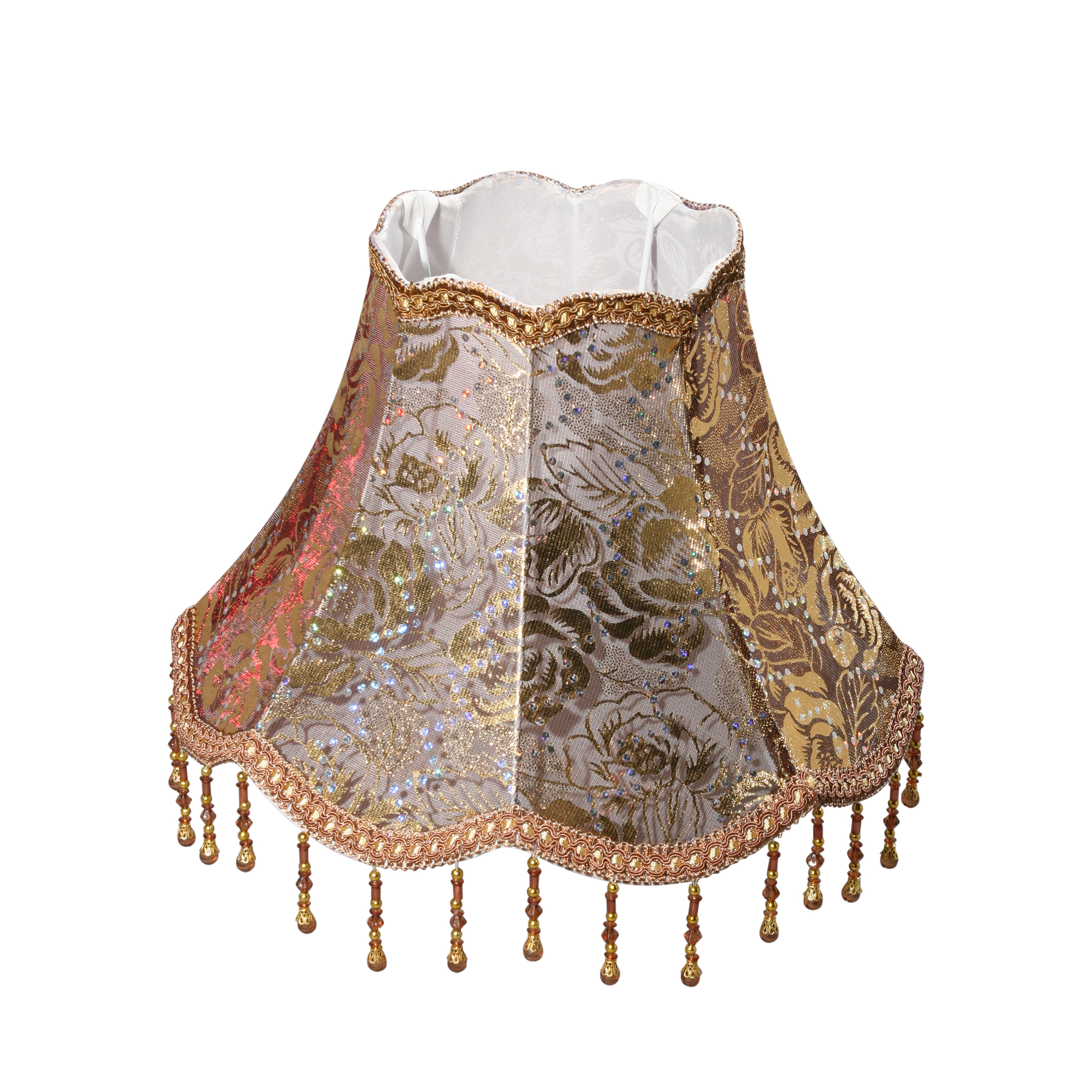Купить Абажур ампир кольцо е27, 60вт, ткань/золотистый, d31 h17см Vitaluce, Китай, металл