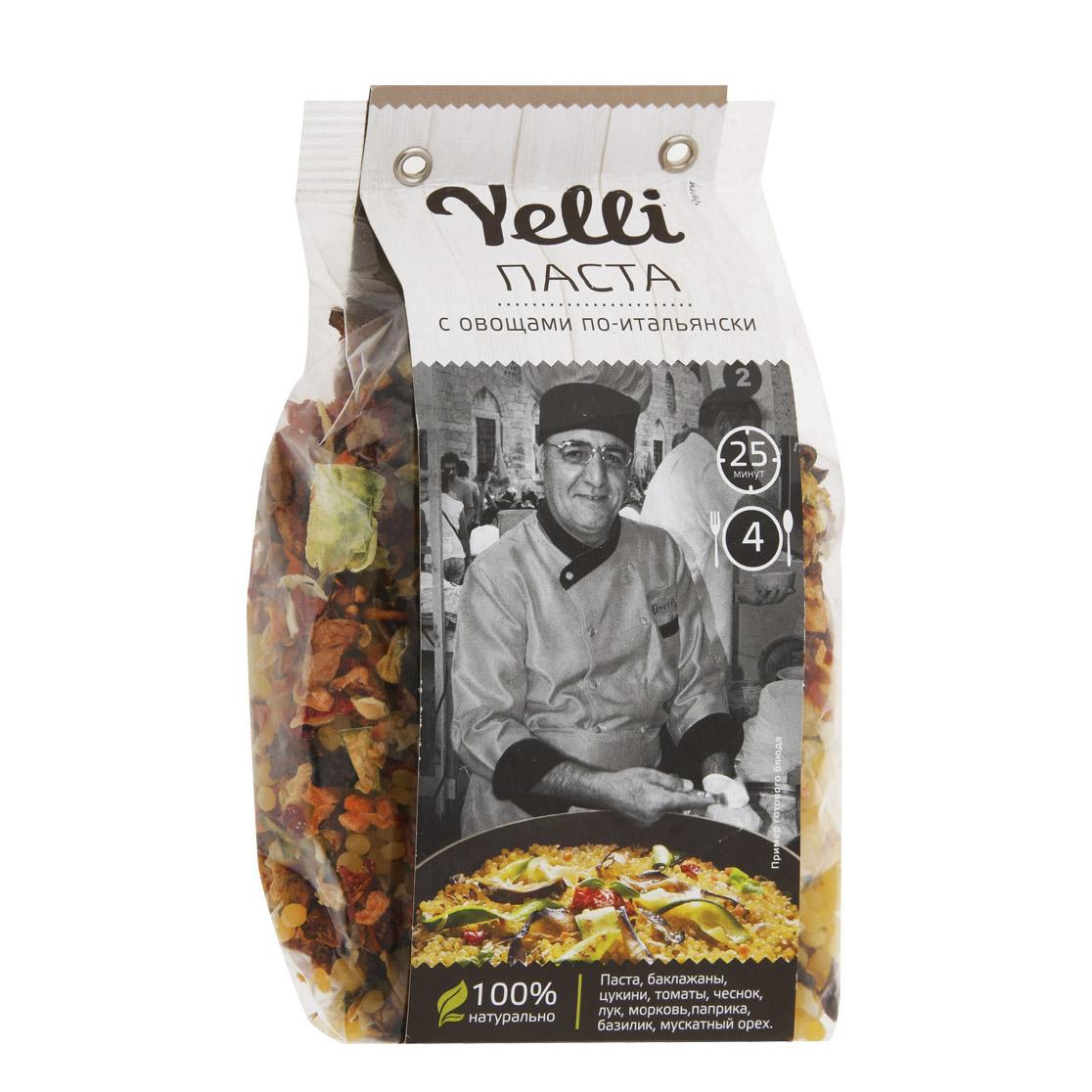 Паста Yelli с овощами по-итальянски 250 г детский супчик yelli kids рисовый с овощами 100 г