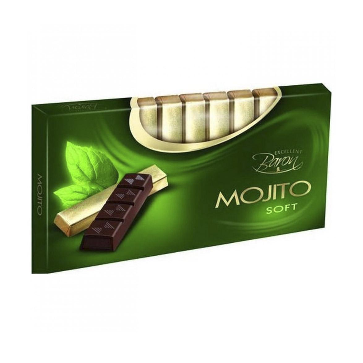 Темный шоколад Baron с начинкой Мохито 100 г шоколад maitre truffout erdbeer темный с помадной начинкой со вкусом клубники 50% 100 г