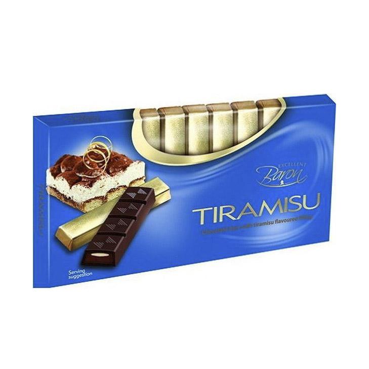 Темный шоколад Baron с начинкой Тирамису 100 г шоколад maitre truffout erdbeer темный с помадной начинкой со вкусом клубники 50% 100 г