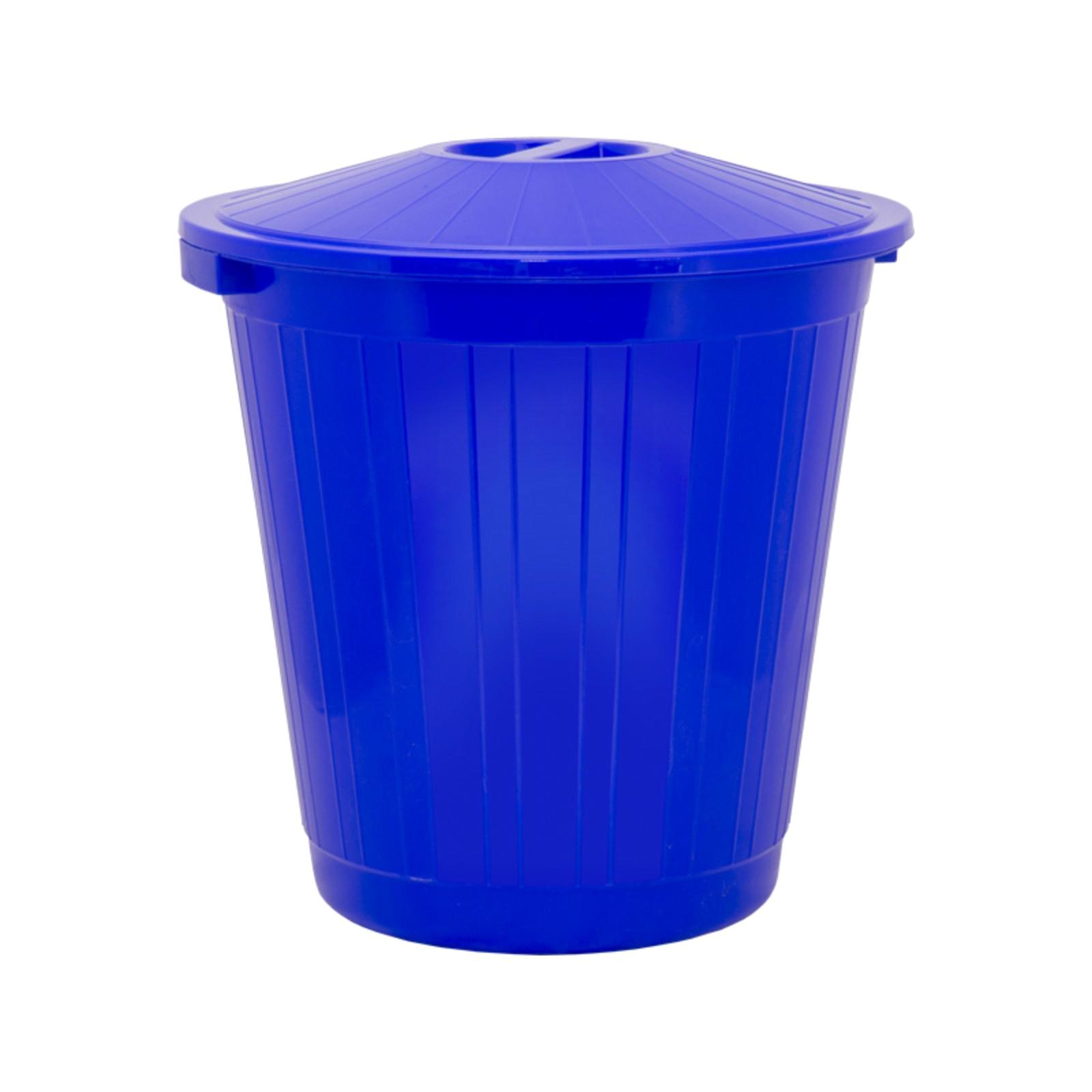 Фото - Мусорный бак Элластик-пласт пластиковый с крышкой 70 л синий бак пласт квадратный с крышкой 300 л 1 3 альтернатива м3047