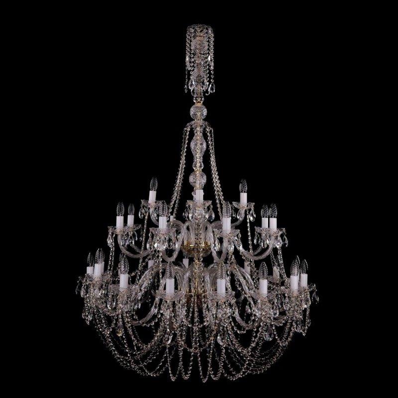 Bohemia Ivele Crystal 1406/16+8+4/400-160/2D G люстра bohemia ivele crystal 1406 1406 8 240 g balls e14 320 вт
