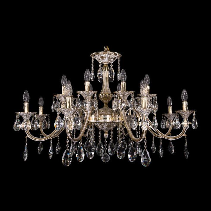 Люстра Bohemia Ivele Crystal золото беленое 1703/16/360A люстра bohemia ivele crystal 1703 1703 12 320 c gb e14 480 вт