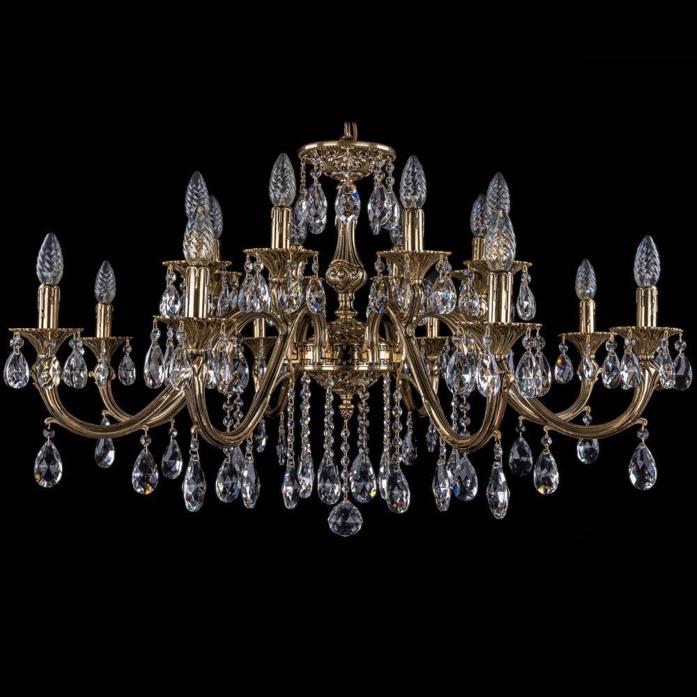 Люстра Bohemia Ivele Crystal золото черненое 1703/16/360A люстра bohemia ivele crystal 1703 1703 12 320 c gb e14 480 вт