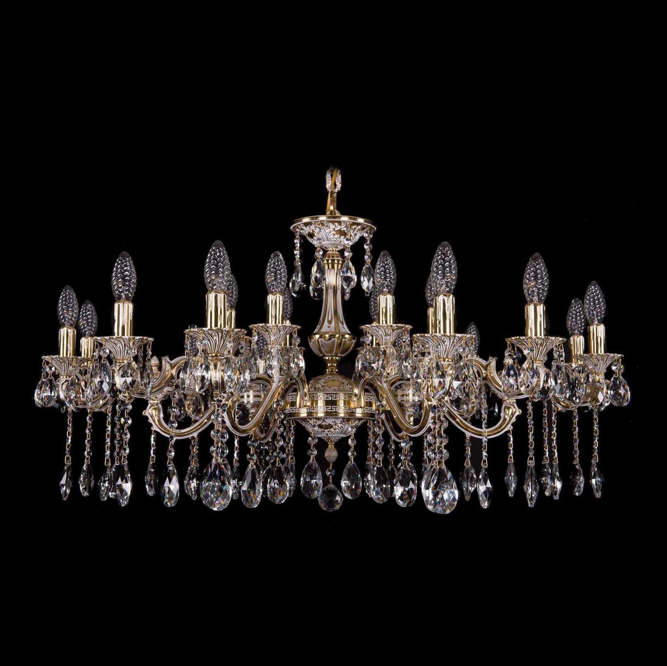 Bohemia Ivele Crystal 1703/18/225+125/A GW люстра bohemia ivele crystal золото беленое 1702 10 335a