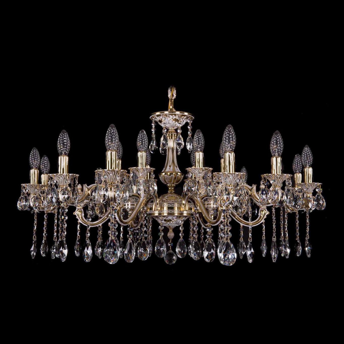 Bohemia Ivele Crystal 1703/18/225+125/A GB люстра bohemia ivele crystal 1703 1703 12 320 c gb e14 480 вт