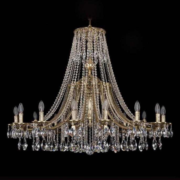 Люстра Bohemia Ivele Crystal золото черненое 1771/16/410A люстра bohemia ivele crystal 1402 1402 8 195 g m731 e14 320 вт
