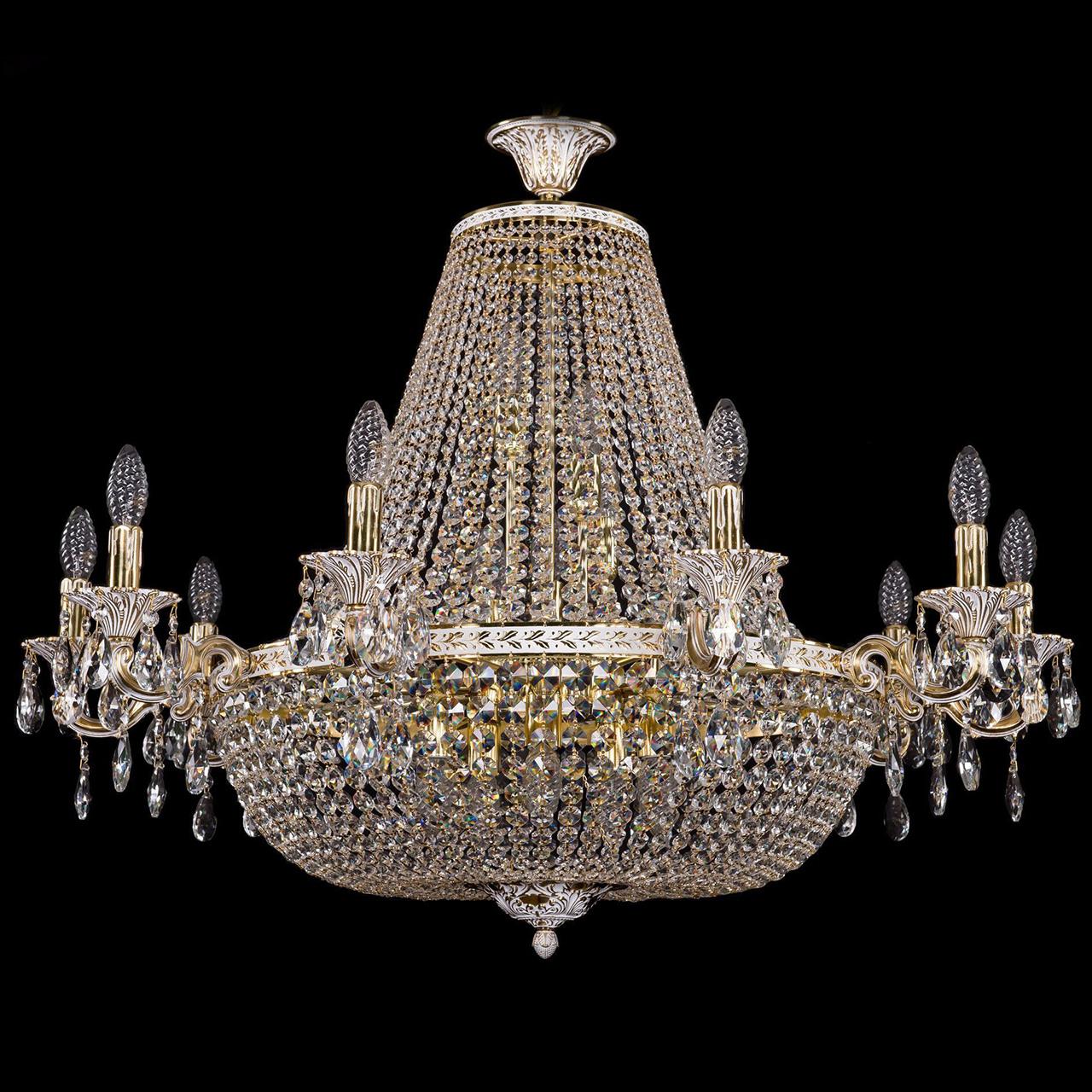 Люстра Bohemia Ivele Crystal золото беленое 2022/95-70 люстра bohemia ivele crystal золото беленое 1702 10 335a