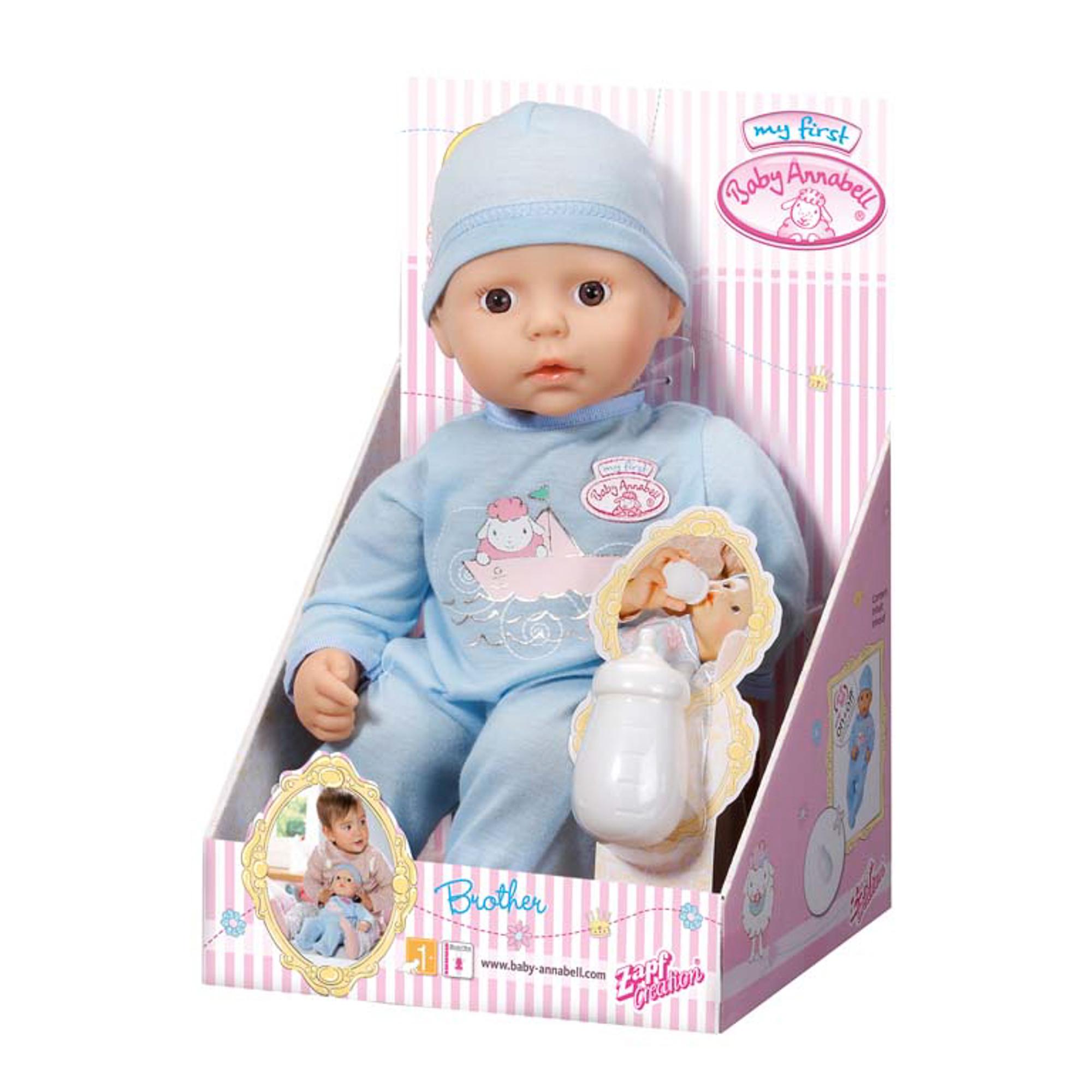 Игрушка my first Baby Annabell Кукла-мальчик с бутылочкой, 36 см, дисплей фото