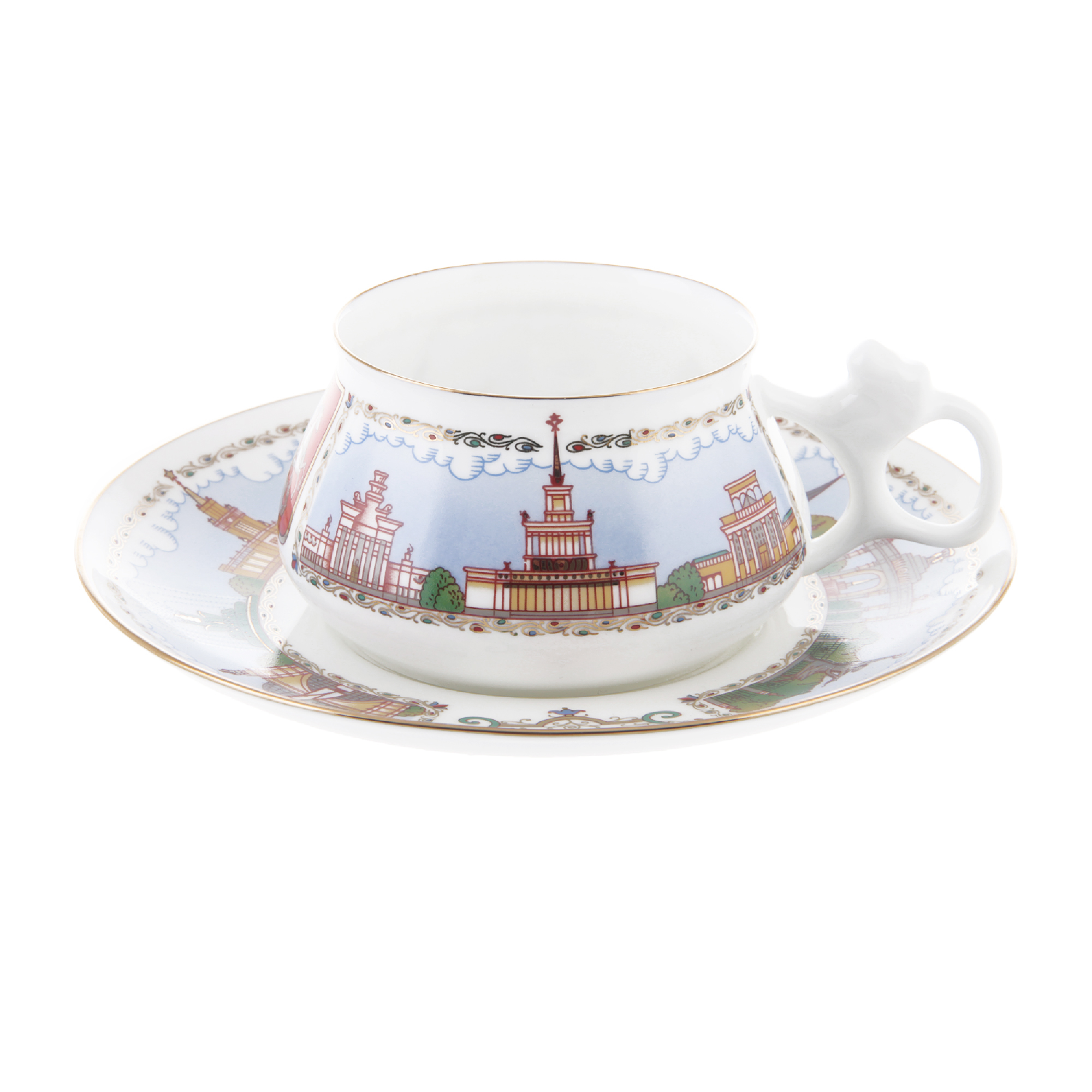 Чашка с блюдцем павильоны вднх Ифз