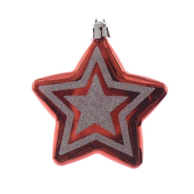 Набор звезды на елку Kaemingk 7 см 2 шт