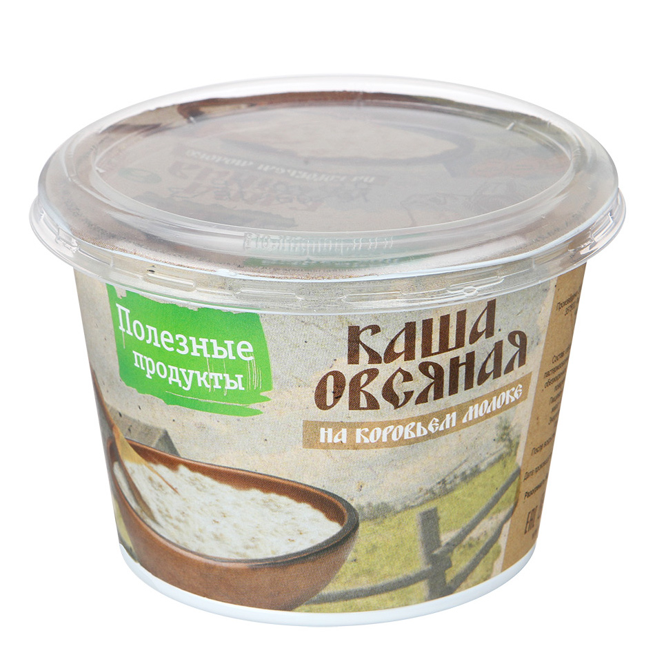 Каша Полезные продукты овсяная на коровьем молоке 6% 230 г