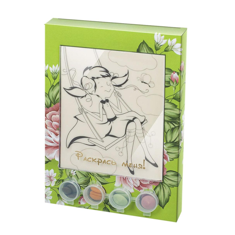 Раскраска-набор шоколада и глазури Лакомство для здоровья Девочка 110 г
