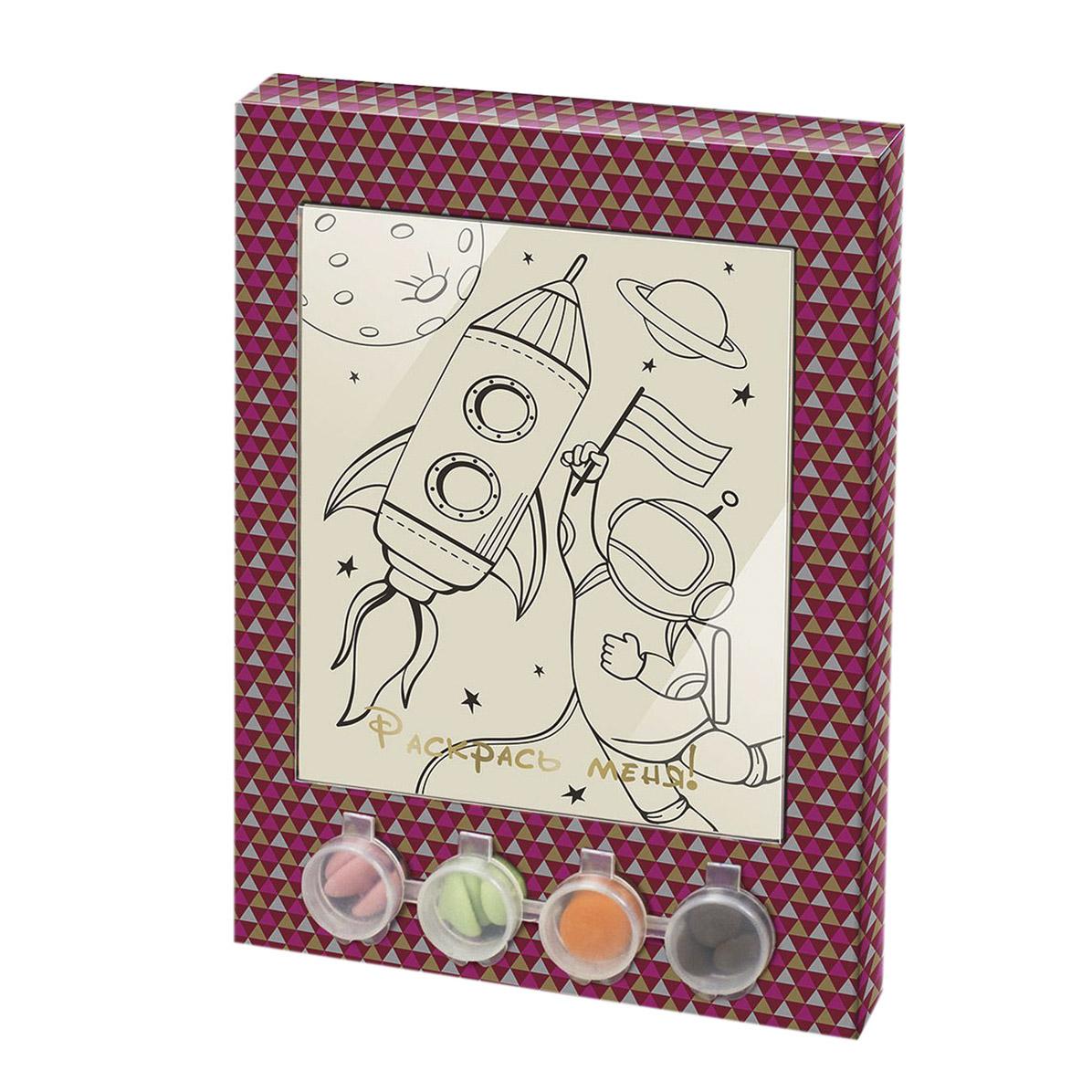 Раскраска-набор шоколада и глазури Лакомство для здоровья Космос 110 г