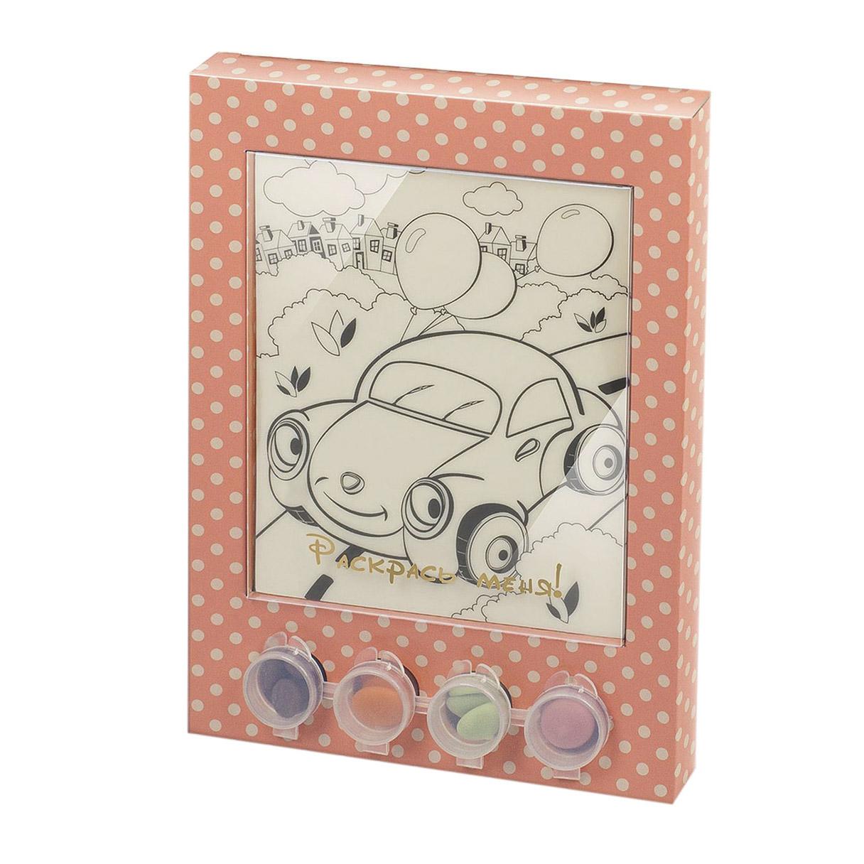 Раскраска-набор шоколада и глазури Лакомство для здоровья Машинка 110 г