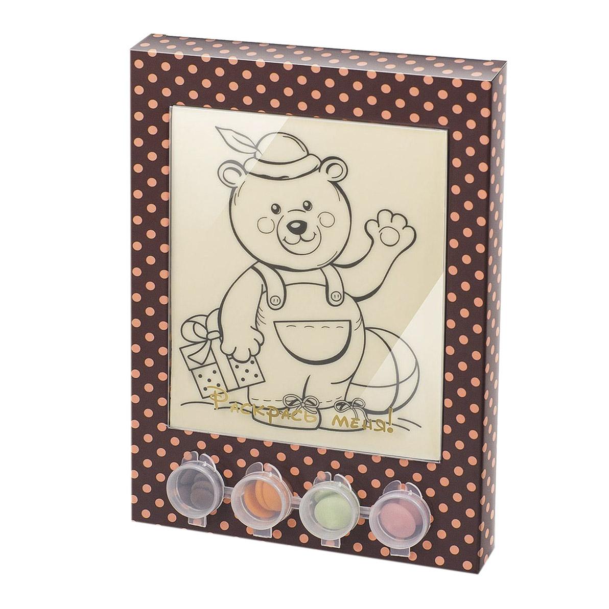 Раскраска-набор шоколада и глазури Лакомство для здоровья Мишка 110 г