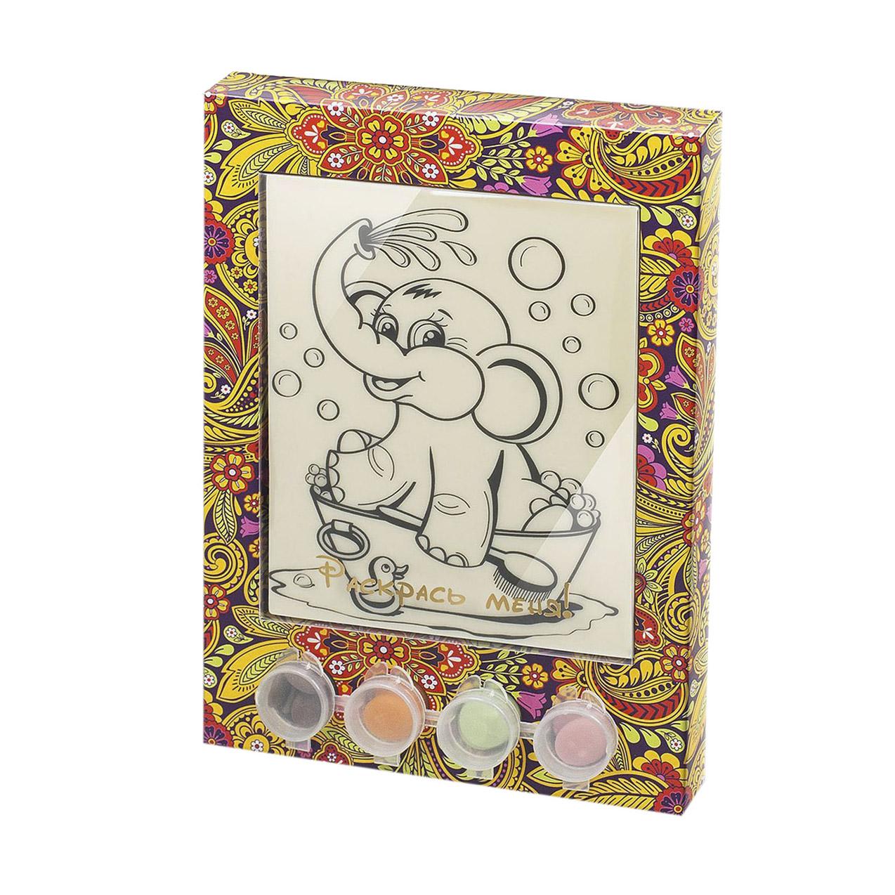 Раскраска-набор шоколада и глазури Лакомство для здоровья Слоник 110 г