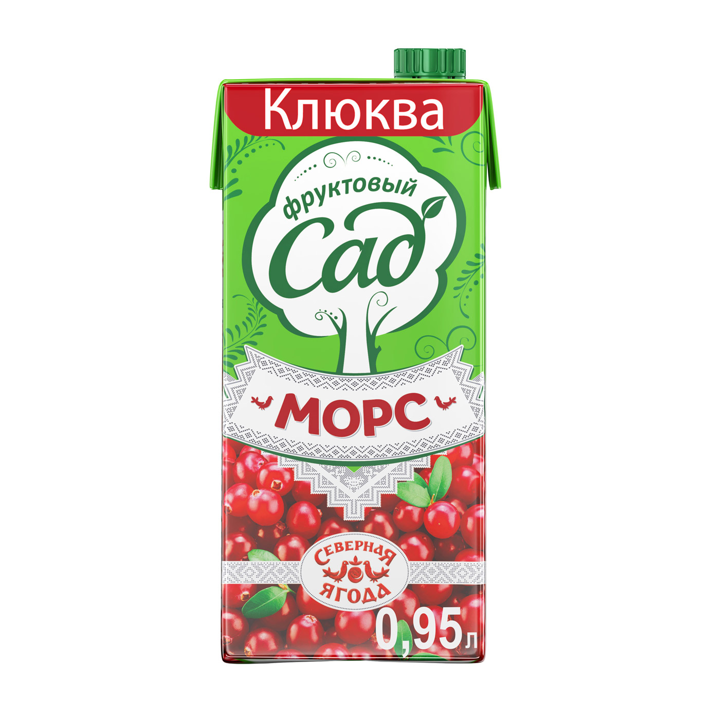 Морс Фруктовый Сад Клюква 0,95 л
