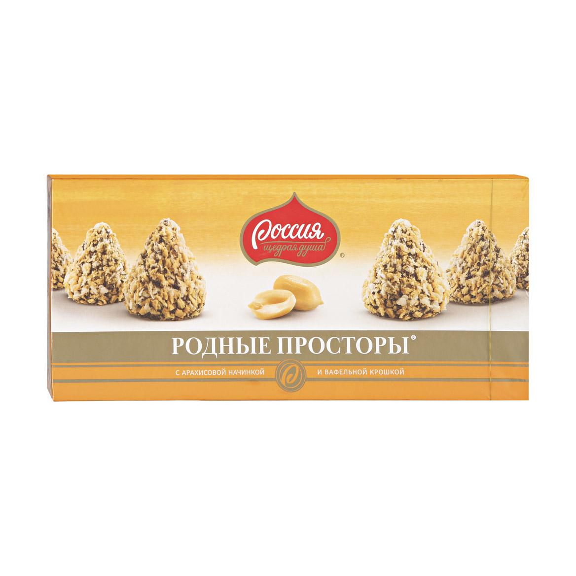 Фото - Конфеты Родные просторы с арахисом и вафельной крошкой 125 г печенье слодыч с арахисом 450 г