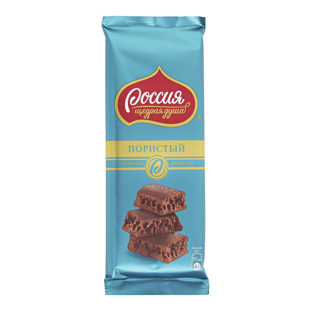 шоколад россия щедрая душа молочный белый пористый 82 г Шоколад Россия Щедрая душа молочный пористый 82 г
