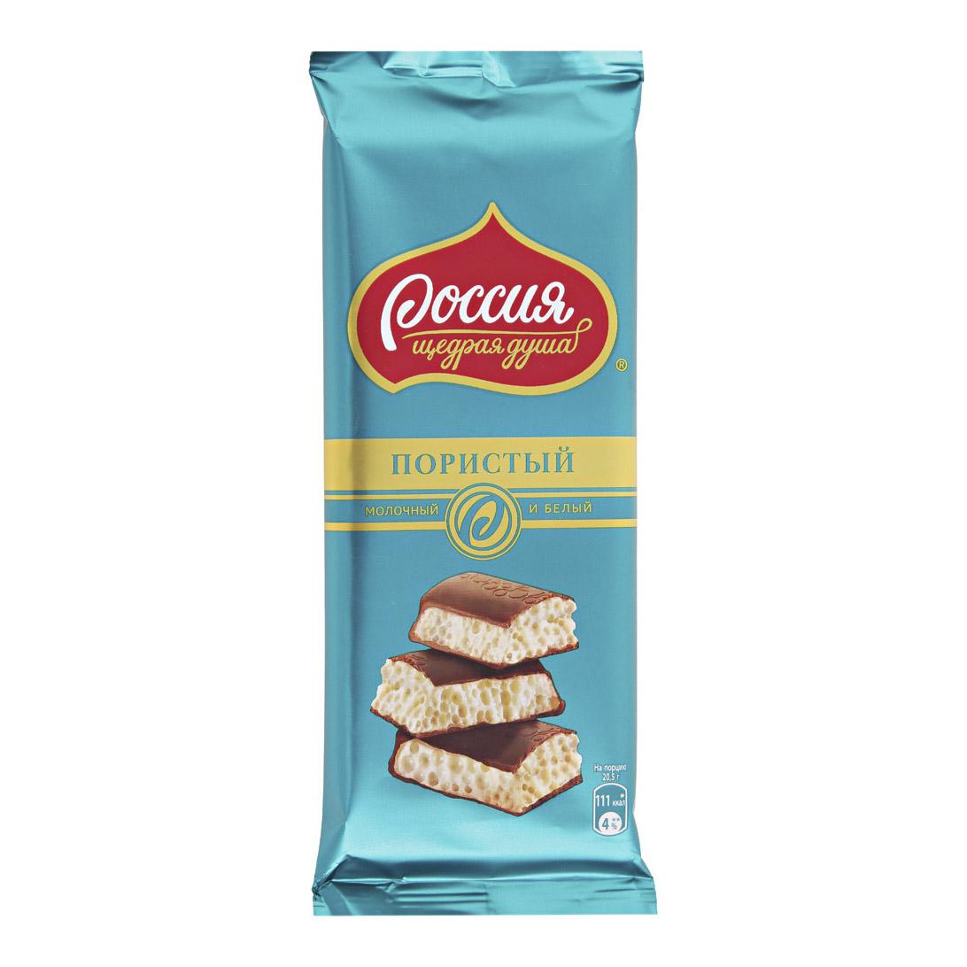 шоколад россия щедрая душа молочный белый пористый 82 г Шоколад Россия Щедрая душа молочный-белый пористый 82 г