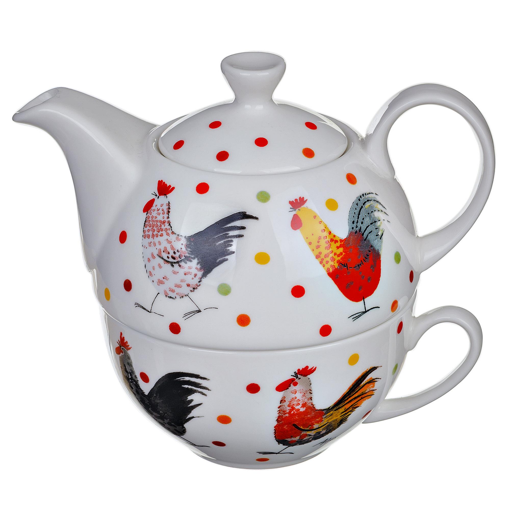 Набор: кружка и чайник петухи Churchill 0,4/0,2 л churchill кружка котята 0 37 л alck00651 churchill