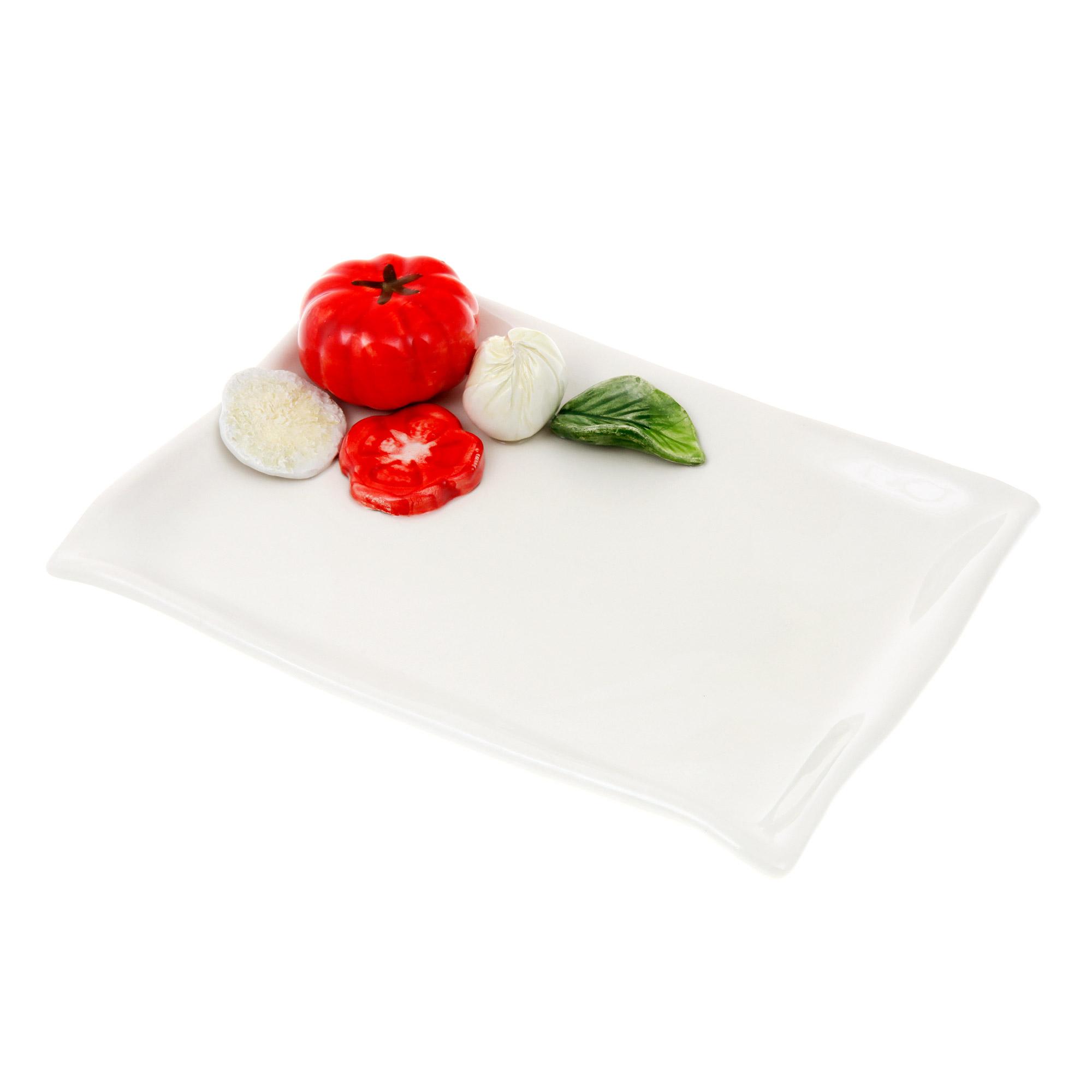 Блюдо сервировочное Annaluma Mozzarella 25x16см фото